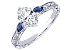 benitoite engagement ring blue sapphire engagement rings from mdc diamonds nyc