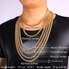 long gold link necklace images Gold finish heavy 6mm miami cuban link chain necklace bracelet jpg