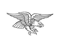 eagle tattoo coloring coloringcrew