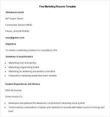 sample resume for mba marketing experience free marketing resume templates marketing resume template mba