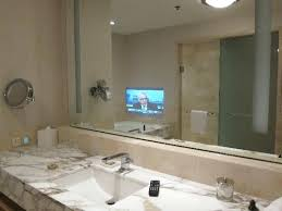 Mirror Tvs For Bathroom Bathroom Mirrors With Built In Tvs By Seura Smartness Ideas Mirror