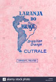 Brazil On South America Map by Printed Ephemera Fruit Wrapper From Brazil South America Map