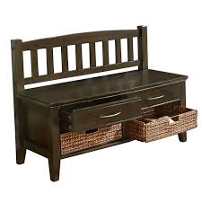 furniture appealing design of wooden bench with storage to