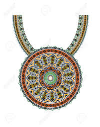 ethnic necklace design images Vector ethnic necklace embroidery for fashion women pixel tribal jpg