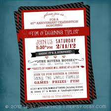 40th wedding anniversary party ideas 33 40th wedding anniversary invitations vizio wedding