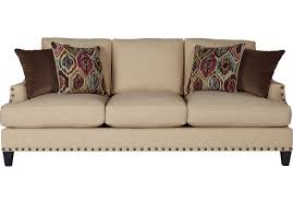 Living Room Settee Furniture by Picture Of Cindy Crawford Home Nolita Taupe Sofa From Sofas