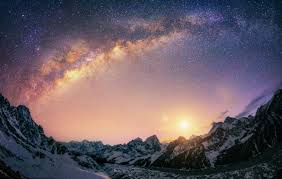 Landscape Nature Milky Way Galaxy Mountain Snow Himalayas