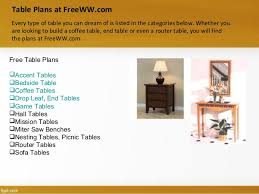 Woodworking Plans Bedside Table Free by Freeww Com Sample Free Woodworking Plans