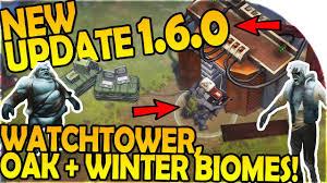 new update 1 6 0 new watchtower oak grove winter biome last