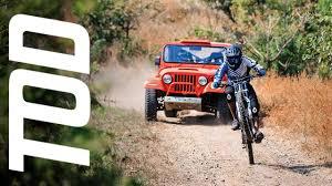 jeep wrangler mountain bike thar vs bike youtube