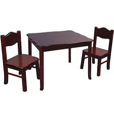 Espresso Dining Room Furniture by Guidecraft Table And Chairs Set Classic Espresso Walmart Com