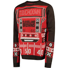 cleveland browns ugly sweaters light up sweaters holiday