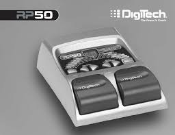 digitech music pedal rp50 user guide manualsonline com