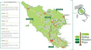 Assisi Italy Map by Italian Wonder Ways 5 Pilgrims U0027 Paths For 5 Continents