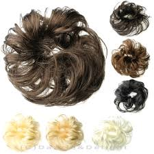 bun scrunchie hair scrunchies synthetic hair scrunchie brown black