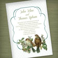 wedding invitations in vintage birds wedding invitation in mint green print