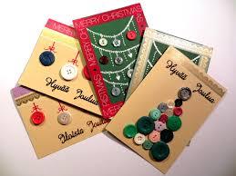 handmade christmas cards with buttons joulukortteja ja nappeja