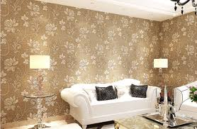 Wallpapers Home Decor Desktop Wallpaper Damask Glitter 3d Flower Papel De Parede Home
