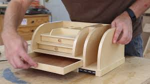 Electronic Desk Organizer This Wooden Desk Organizer Is Also A Charging Station For Up To