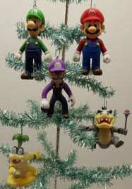 super mario brothers 5 piece holiday christmas tree ornament set