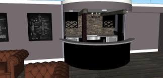 i built a curved aviator bar in my basement world war ii leather