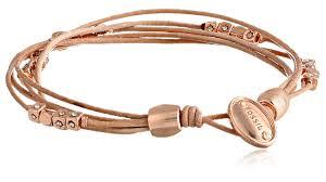 bracelet fossil images Fossil multi strand leather wrist wrap bracelet jewelry jpg