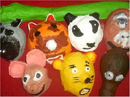 paper mache animal masks lesson plan sculpture activities