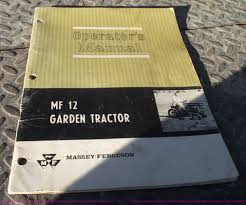 1966 massey ferguson model 12 riding lawn mower item 5874