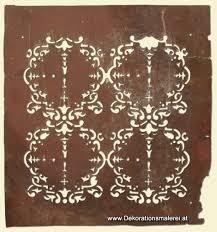 schablone wandgestaltung historische maltechniken