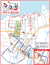 New Orleans City Park Map by Entergy Bike The Big Easy New Orleans La 2015 Active