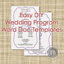 Printable Wedding Programs Free Best 25 Wedding Program Templates Ideas On Pinterest Diy