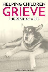 when a pet dies how to help children grieve when their pet dies