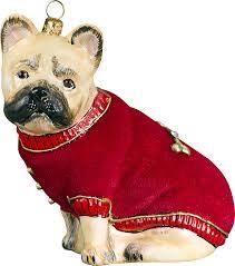 pet set bulldog ornament for the