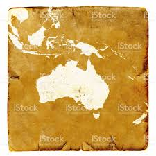 Blank Map Of Australia by Map Of Australia Blank In Old Style Brown Graphics In A Retro Mode