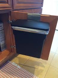 simplehuman in cabinet trash can in cabinet garbage granite cabinet garbage can tile backsplash