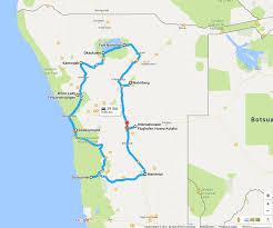 Std Map Reiseroute Namibia 14 Tage Camps Oder Feste Unterkünfte
