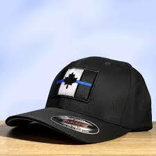 Black Flag Hat Flexfit Canada Thin Blue Line Flag Hat Black Thin Blue Line Usa