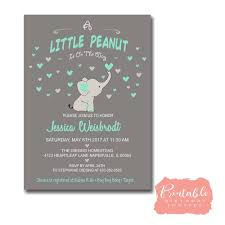 peanut baby shower minion birthday invitation