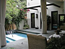 an elegant backyard pool design in houston hgtv