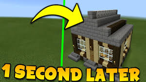 minecraft pe how to build a house in 1 second mansion in few