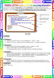 Formal Letter Asking Information worksheets formal letter asking for and giving information