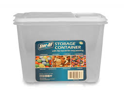 stor all 6 pack food storage plastic dispenser container 7 5 cup