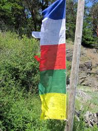 Prayer Flags Traditional Colors Tibetan Buddhist Vertical Pole Prayer Flags Dar