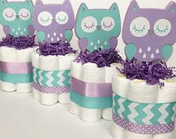 purple owl baby shower decorations 3 tier purple teal and black owl mini cakes owl