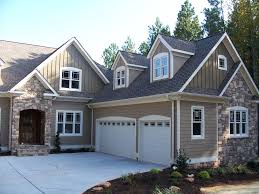 awesome exterior paint color ideas with white garage door and grey