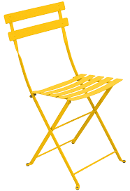 bistro folding chair metal honey by fermob