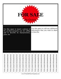 for sale by owner flyer template png