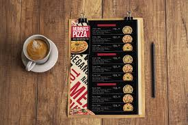 pizza menu template for photoshop u0026 illustrator brandpacks