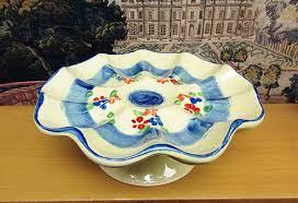 ceramic deviled egg platter souleo è provence pottery deviled egg platter on stand style