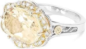 citrine engagement rings tacori 18k925 citrine diamond ring sr109y04